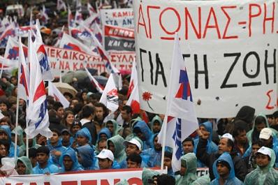 Grecia a fost cuprinsa de o noua greva !