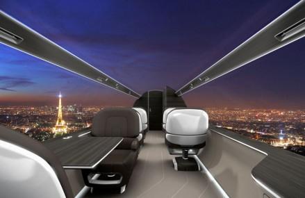 Tehnologia viitorului: avioane fara geamuri