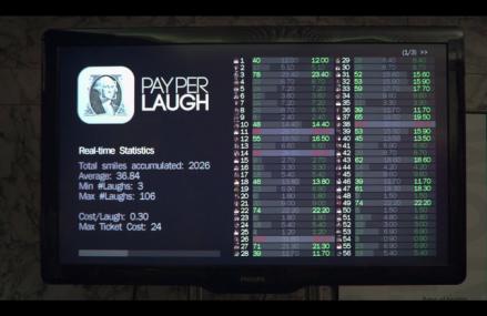 Un club de comedie din Barcelona foloseste o aplicatie iPad pentru a taxa clientii in functie de cat rad