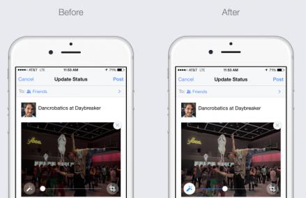 Facebook intensifica automat fotografiile postate de pe iPhone