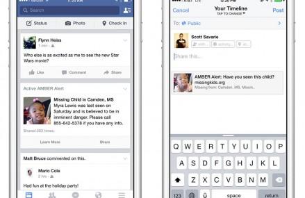 Facebook a lansat serviciul care ajuta la gasirea copiilor disparuti
