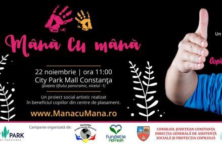 Lansare Mână cu Mână, pentru copii din centre de plasament – 22 noiembrie, în Constanţa, la City Park