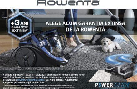 Performanță maximă și silențiozitate, acum cu extra-garanție la aspiratoarele Rowenta