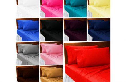 Lenjerii de pat uni-in culori sobre sau de maxima intensitate