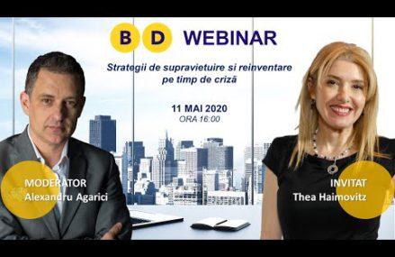 Webinar Thea HAIMOVITZ – Strategii de supraviețuire și reinventare pe timp de criză
