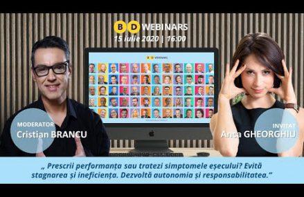 BD Webinar Anca Gheorghiu – Prescrii performanta?