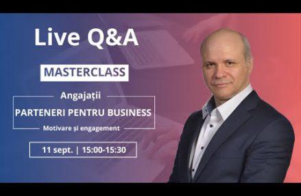 Ce vom discuta în masterclass? Află în live Q&A cu Sorin Faur.