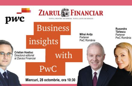 BUSINESS INSIGHTS WITH PwC – Pandemia schimbă obiceiurile de consum: Impact pentru retail. O discuţie cu Ruxandra Târlescu, Partener PwC România şi Mihai Aniţa, Partener PwC România