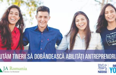 Nestlé România și Junior Achievement ajută 400 de tineri de liceu să dobândească abilități antreprenoriale
