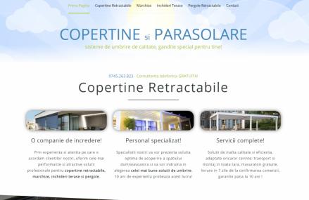 Lansam NOUL site copertine-parasolare.ro – copertine retractabile, marchize, sisteme de umbrire