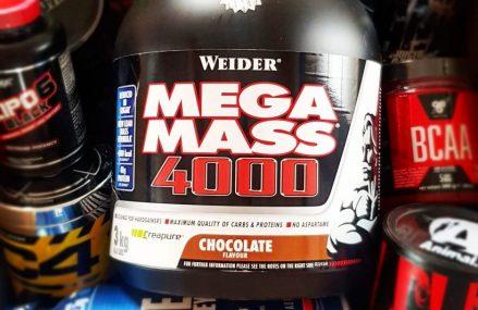 Proteine pentru masa: Weider Mega Mass 2000 si Mega Mass 4000