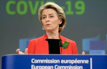 """Ursula von der Leyen, preşedintele Comisiei Europene: """"Mulţumiri premierului Florin Cîţu pentru întrevederea constructivă. Colaborăm strâns cu România pentru finalizarea unui Plan solid de Redresare şi Rezilienţă cât se poate de repede"""""""