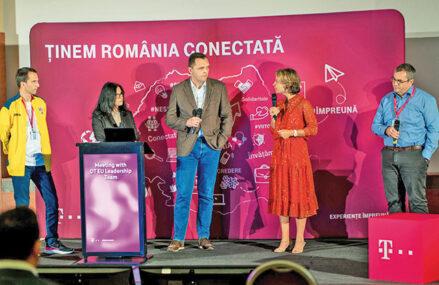 """Cei mai puternici oameni din Deutsche Telekom, prima vizită la Bucureşti de la izbucnirea pandemiei. Mesajul transmis de Dominique Leroy, membru în board: """"Ţineţi-o tot aşa"""""""