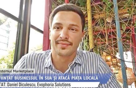 """ZF Ecosistemul Marketplace. Daniel Diculescu, fondator al Evophoria Solutions, care vinde produse pentru uz casnic, articole sportive şi de recuperare medicală: """"Acum suntem prezenţi pe piaţa din SUA, Canada şi România, iar până la finalul anului 2021 vom fi prezenţi şi în Bulgaria şi Ungaria prin eMAG Marketplace"""""""