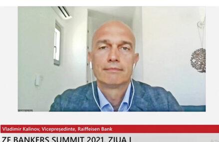 ZF Bankers Summit 2021. Vladimir Kalinov, vicepreşedinte al Raiffeisen Bank: Cea mai mare provocare este că există bănci şi fintech-uri foarte agresive, care oferă o experienţă digitală foarte bună, iar Raiffeisen trebuie să se alinieze repede