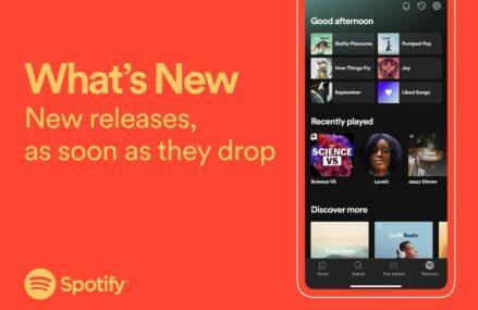 Spotify va avea un flux cu noutăți legate de artiștii preferați