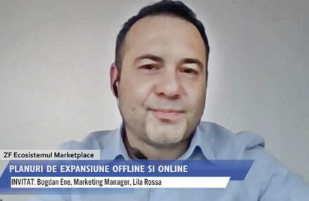 """ZF Ecosistemul Marketplace. Bogdan Ene, marketing manager în cadrul Lila Rossa: """"Vizăm o creştere de 20% a cifrei de afaceri, deschiderea a încă trei magazine fizice şi vrem să ne extindem şi pe platforma marketplace a eMAG din Ungaria"""""""